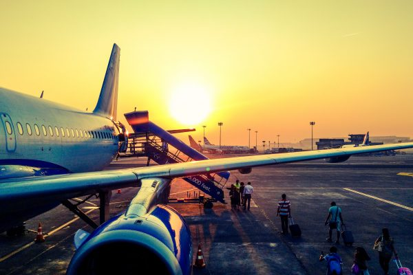 Image of aeroplane at airport